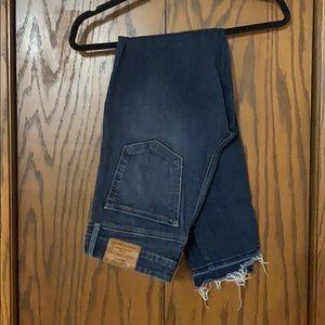 Lucky Brand skinny jeans with raw hem